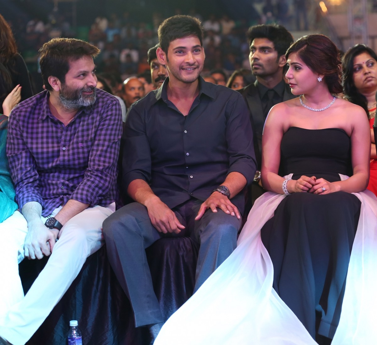 Trivikram Srinivas, Mahesh Babu and Samantha