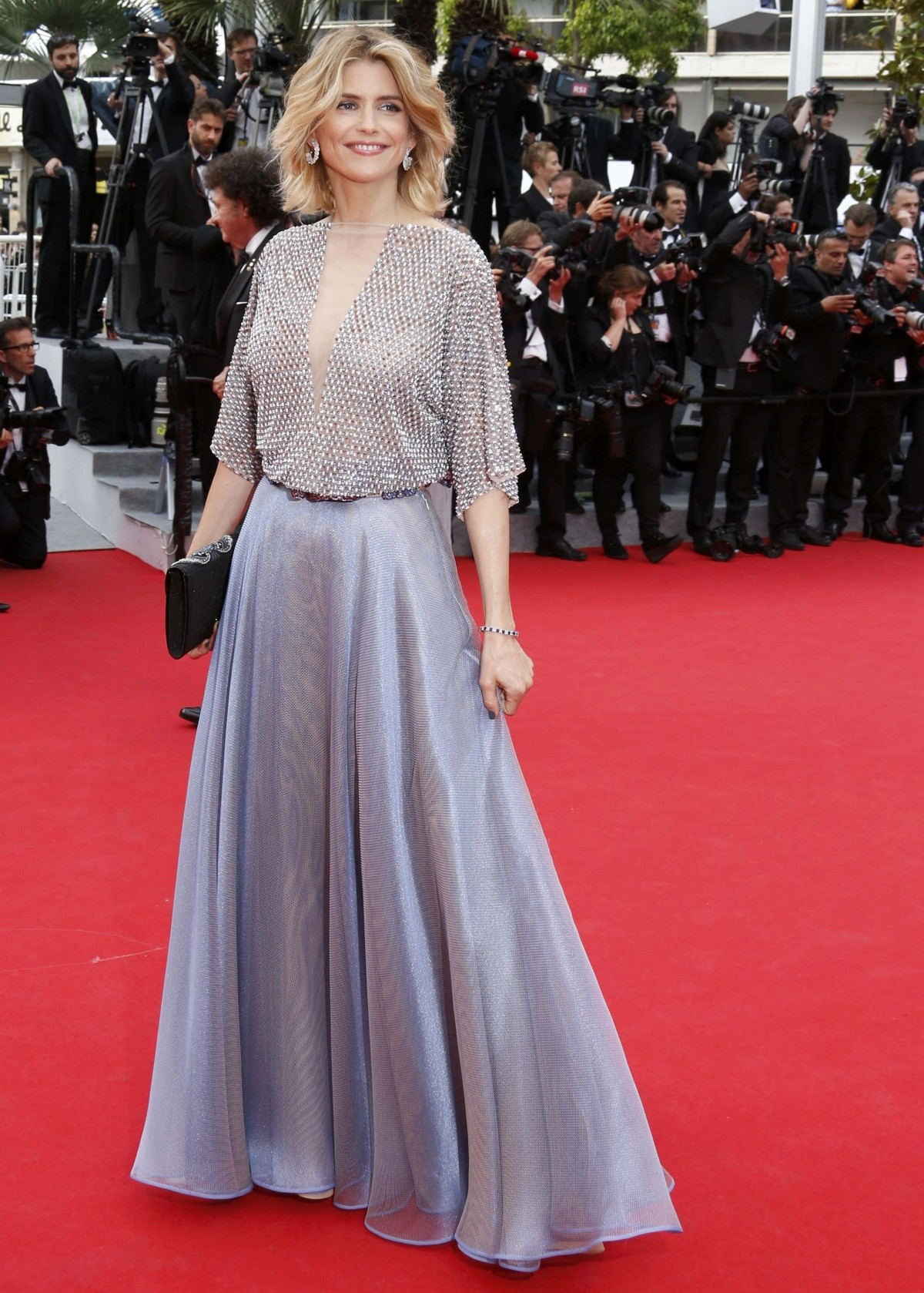 Actress Alice Taglioni poses on the red carpet as she arrives for the opening ceremony and the screening of the film