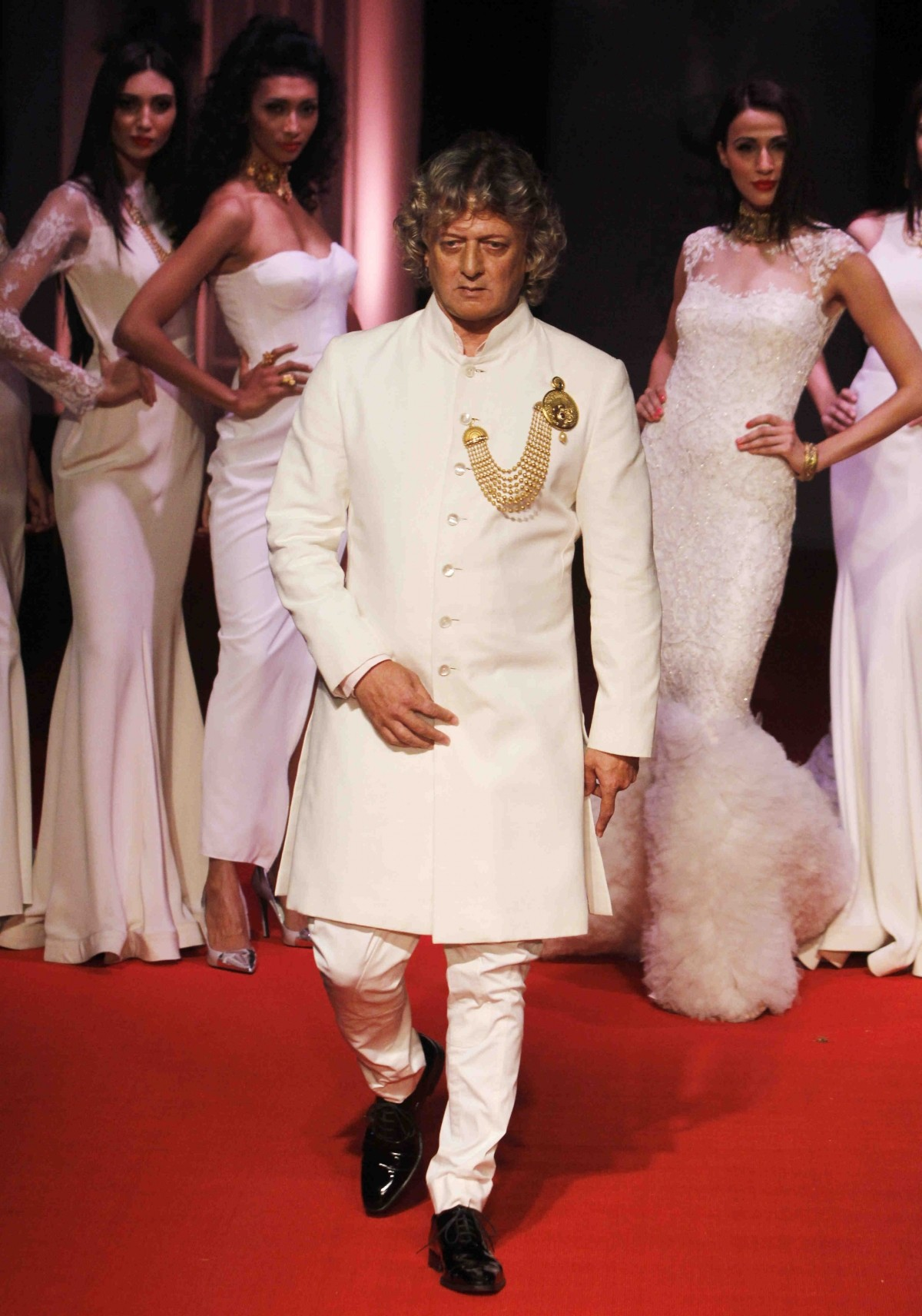 Rohit Bal walks the ramp