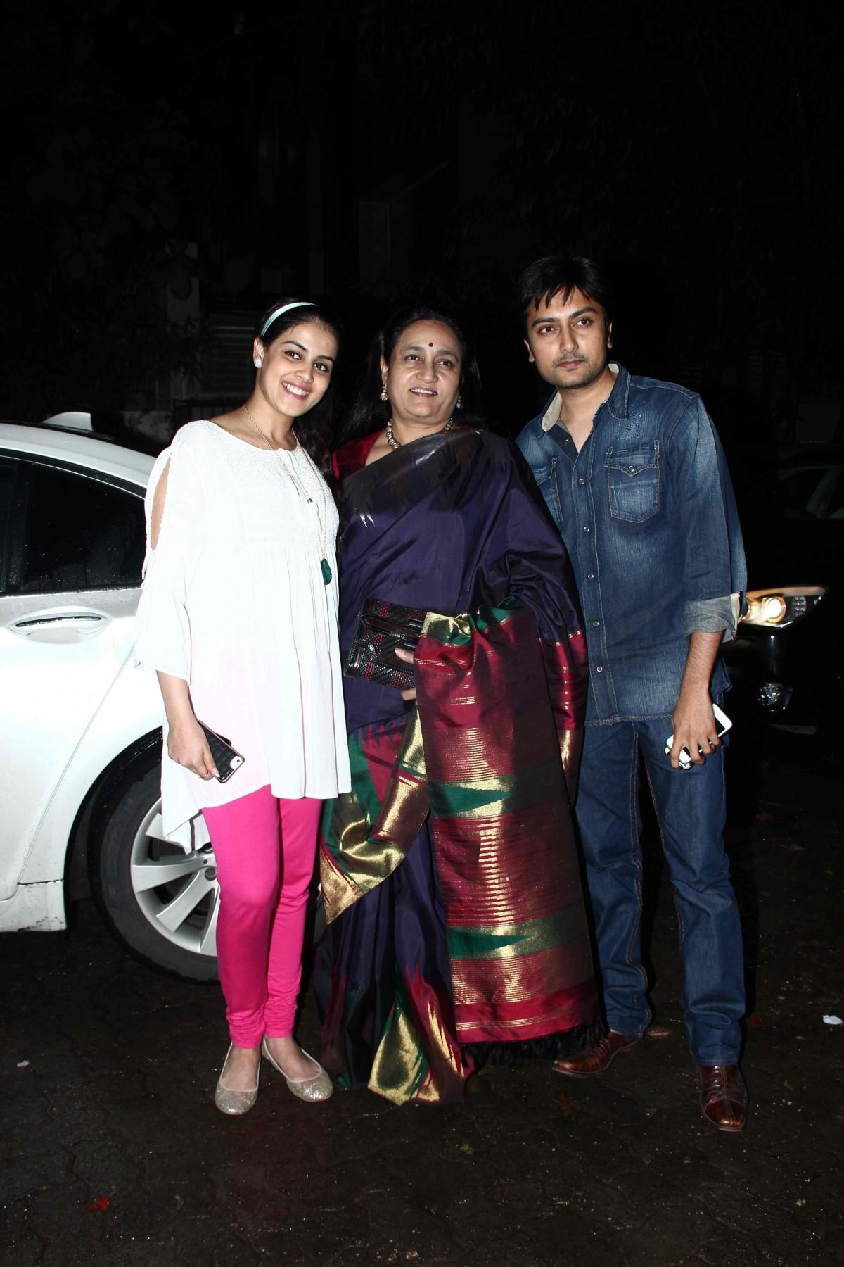 Genelia with mother-in-law Vaishali Deshmukh and brother Dheeraj Deshmukh