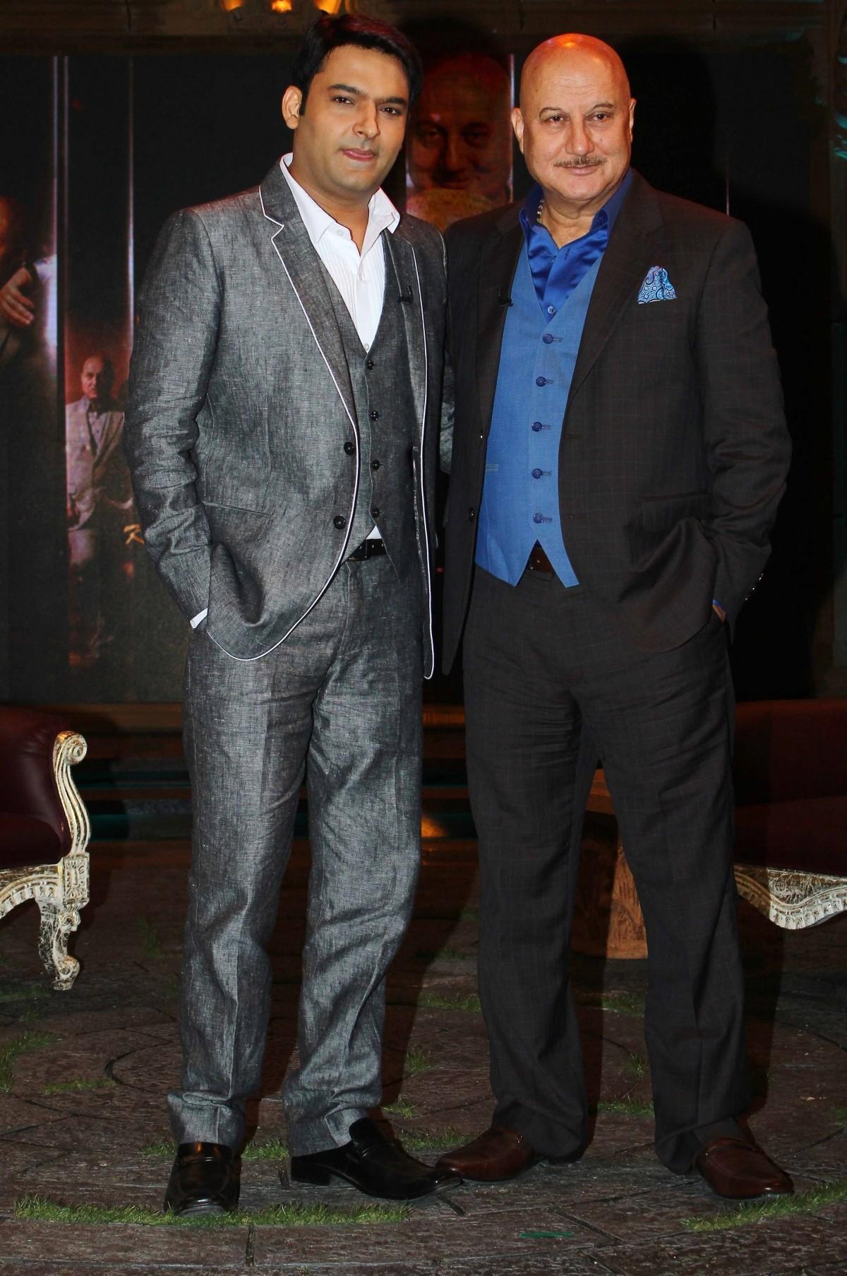 Kapil Sharma with Anupam Kher