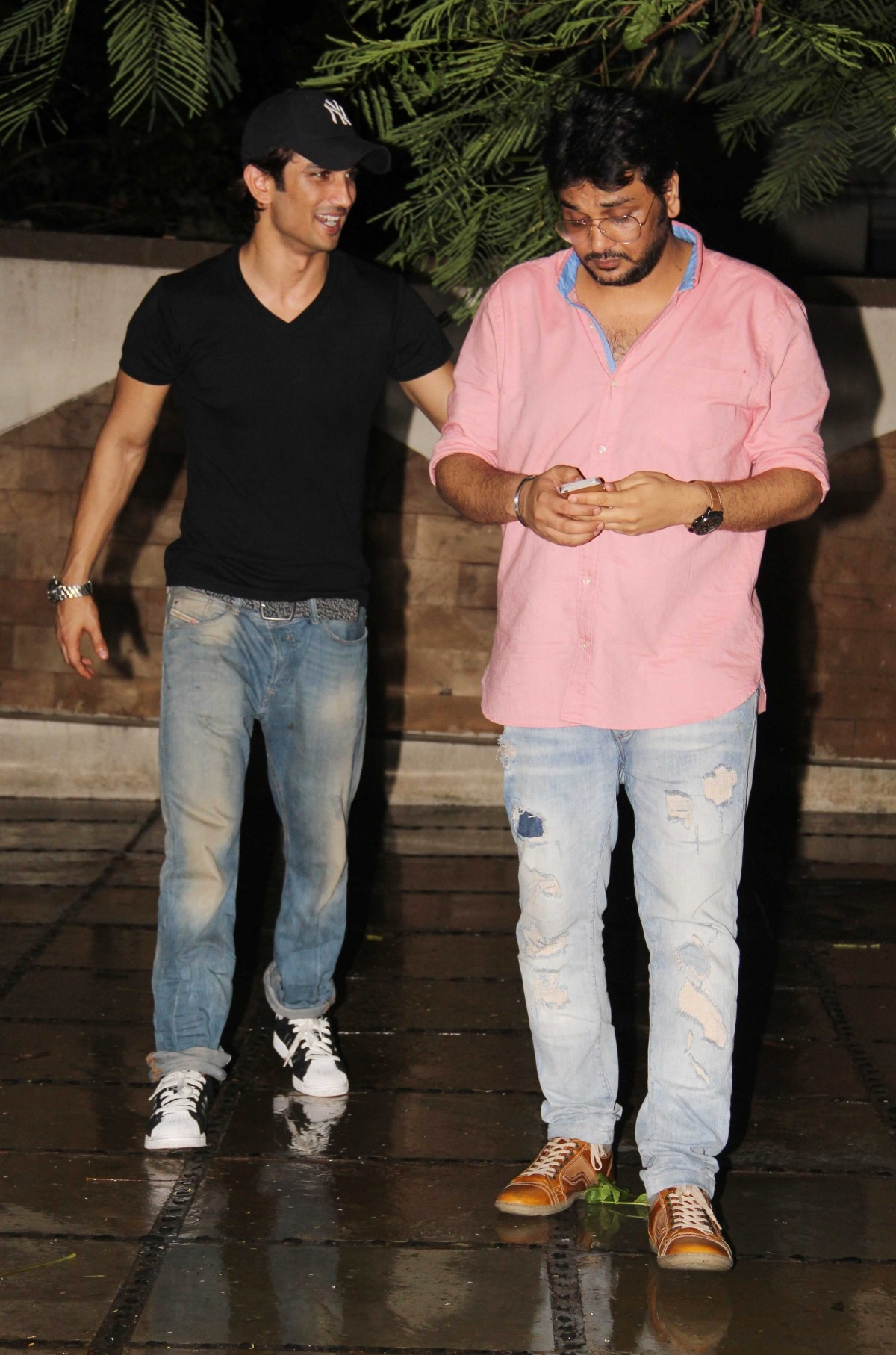 Sushant Singh Rajput and casting director Mukesh Chhabra