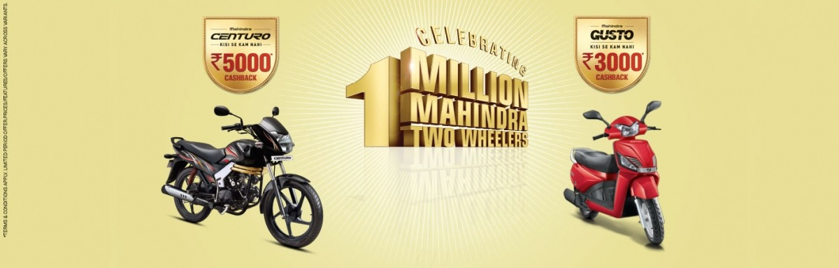 Mahindra Two Wheelers sales touch 10 lakh