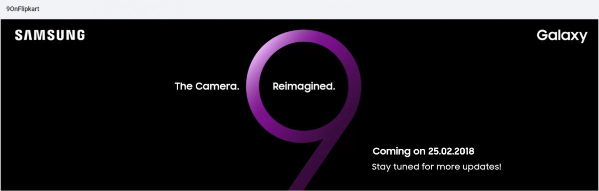 Samsung Galaxy S9 India launch teased by Flipkart