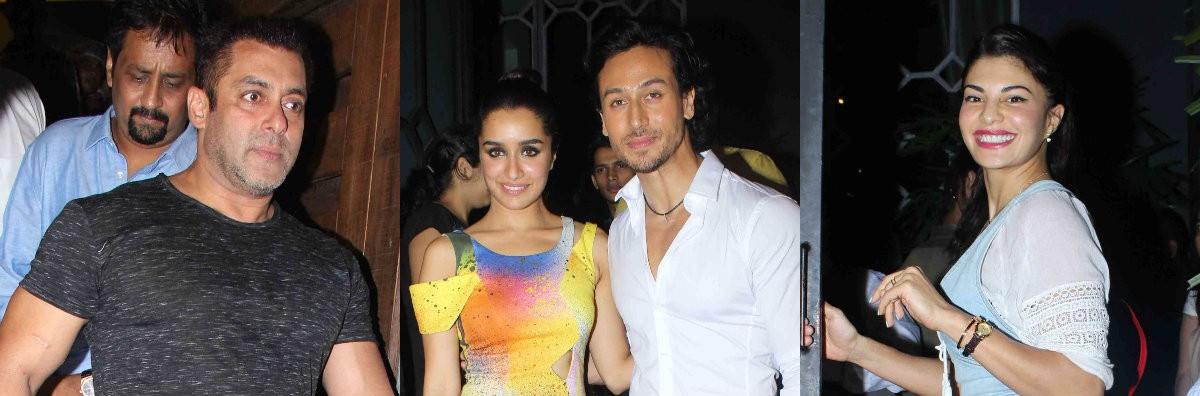 Salman Khan, Tiger Shroff, Shraddha Kapoor. Jacqueline Fernandez attend