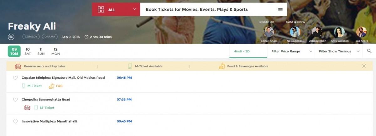 Bookmyshow Bangalore Coupons