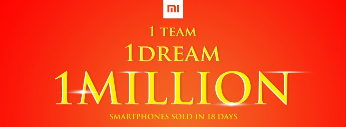 Xiaomi sells record 1 million smartphones in India in just three weeks