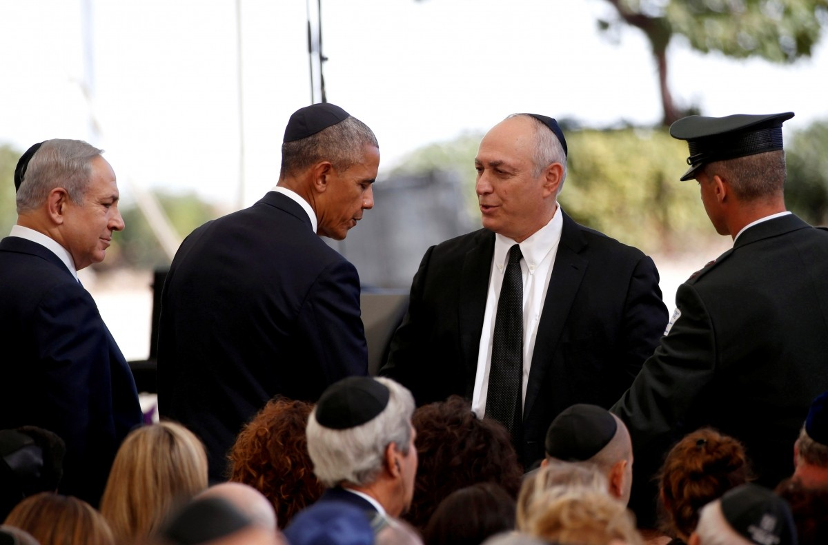 Obama expresses condolences to Chemi Peres, son of late former Israeli President Shimon Peres