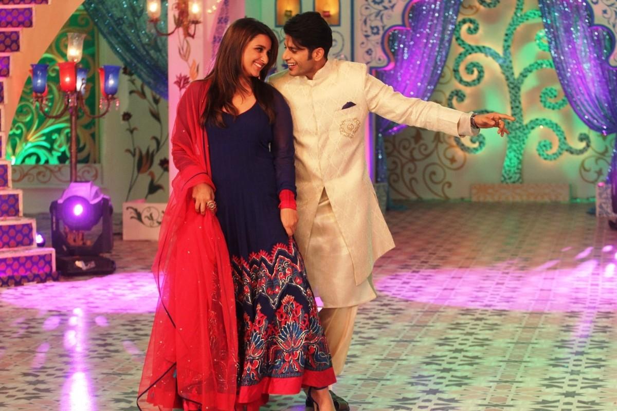 Karanvir Bohra dancing with Parineeti Chopra on the sets of Zee TV's Dawaat-E-Eid