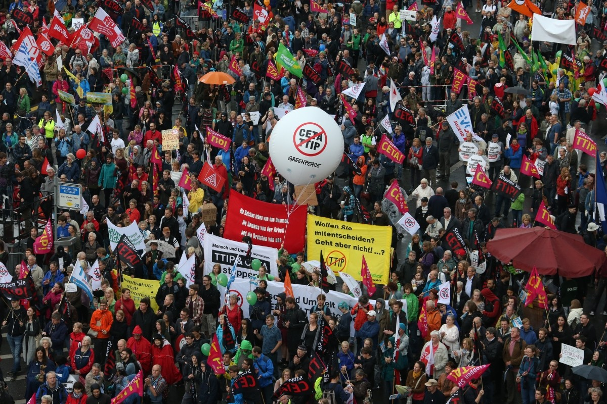 Germans protest TTIP and CETA