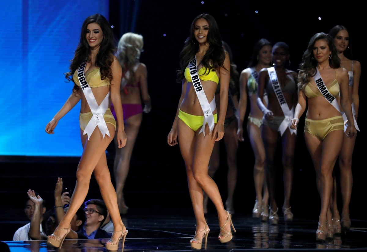Image result for miss universe in swimsuit competition in Mall of Asia manila pic
