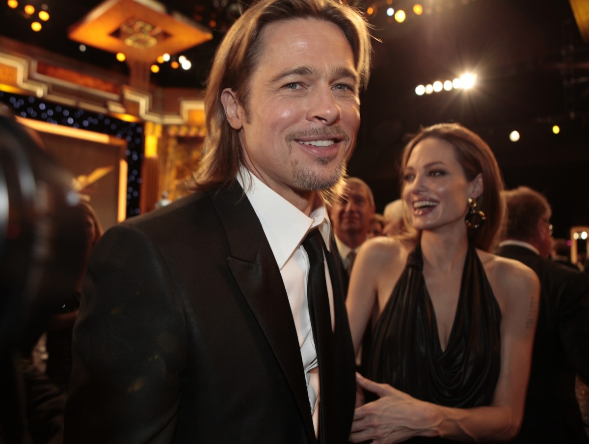 Brad Pitt and Angelina Jolie in 2012