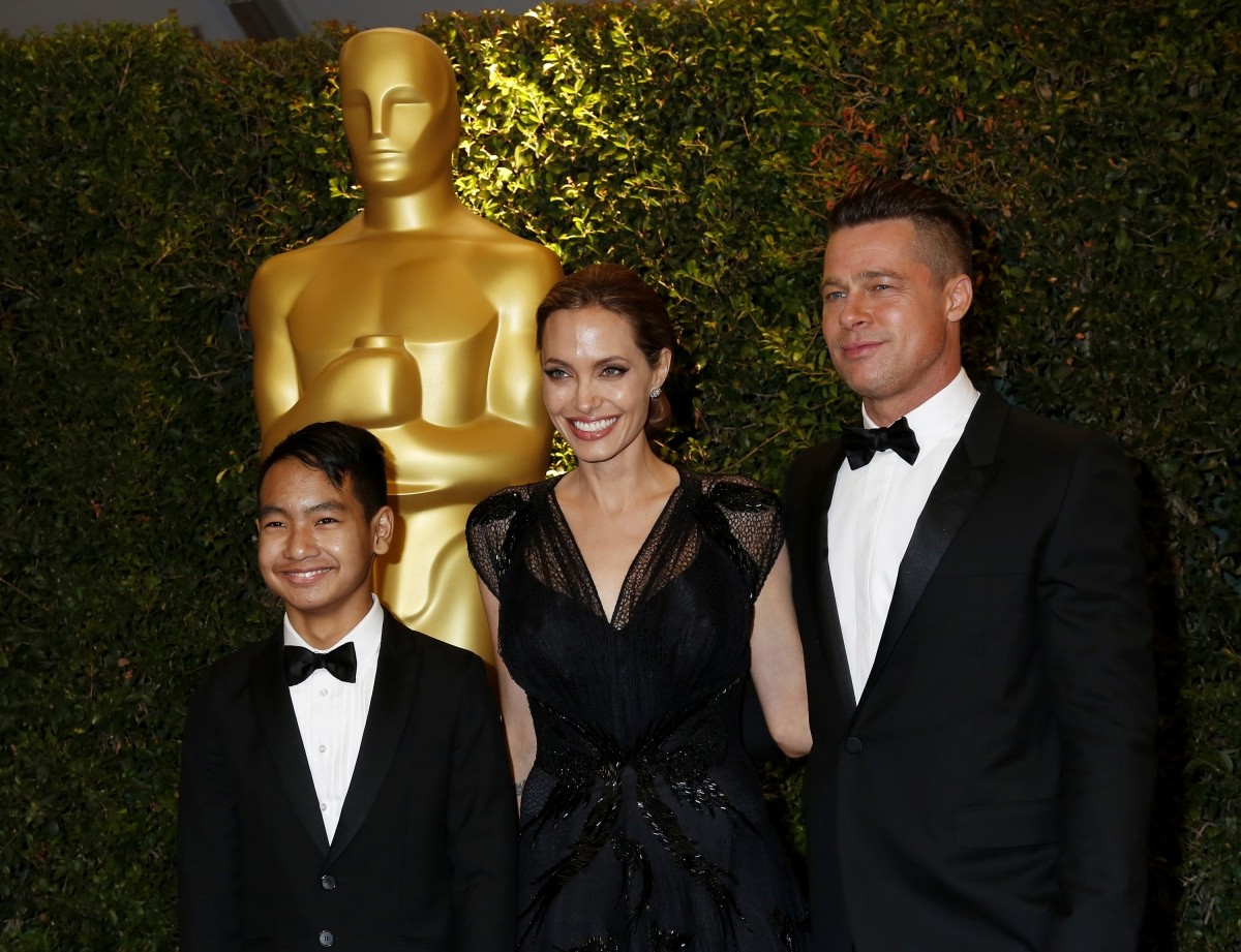 Brad Pitt and Angelina Jolie in 2013