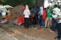 Refugee crisis: Makeshift camps outside San Giovanni train station in northern Italy