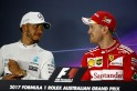 Lewis Hamilton takes a dig at Nico Rosberg after first race as Sebastian Vettel says calm approach helping Ferrari