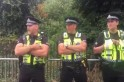 Police greet Glastonbury revellers by forming choir and singing Delilah