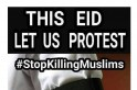 Black Eid 2017: People wear black armbands to protest against persecution of Muslims