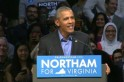 Barack Obamas back campaigning as he calls Virginia voters to action