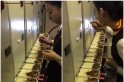 WATCH: This viral video of an air hostess tasting in-flight meals causes her to get suspended!