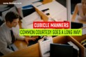 Top 10 cubicle etiquette tips for modern offices [VIDEO]
