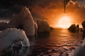 Trappist-1's Earth-sized worlds may have too much water to host life