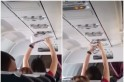 Woman spotted drying underwear in packed jet by waving it close to the overhead air vent [Video]
