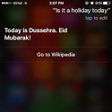 Apple Siri glitch: Voice assistant wishes Indians Eid Mubarak on Dussehra