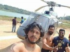 Two male actors were drowned in a lake near Bengaluru on Monday during the shooting of a Kannada movie while enacting a stunt scene by jumping from a helicopter, said police.