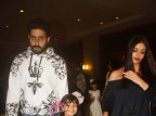 Abhishek Bachchan and Aishwarya Rai Bachchan attend their daughter Aaradhya.