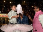Bollywood actor Amitabh Bachchan and Shah Rukh Khan get cotton candy for AbRam on Aaradhya birthday bash.