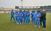 India is the first team into Sunday's ‪U 19 CWC‬ final after a 97 run win over Sri Lanka. Chasing 268, Sri Lanka never got going in their chase thanks to a disciplined performance from the whole Indian bowling attack, coupled with excellent fielding from the rest of the side. India will face either West Indies or Bangladesh in Sunday's final.