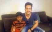 Tollywood actor Akkineni Akhil drives passenger auto-rickshaw in Khammam on Tuesday and donated earnings with the help of 6 years old boy Ashwith Reddy who is suffering from Kidney related disease.