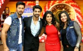Rajniesh Duggall, Nidhi Subbaiah and singer Swati Sharrma went to Comedy classes to promote their film Direct Ishq, which is releasing on 19th Febuary. The film is produced by Pradeep Sharma of Baba motion pictures pvt ltd. Karan Vahi and Sugandha hosted the show which will be aired on the 14th Febuary on Life OK. Rajniesh Duggall and Nidhi Subbaiah performed on different songs in the show.