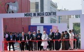 Kicking off the 'Make In India Week', Prime Minister Narendra Modi on Saturday inaugurated the Make In India Centre at the MMRDA Grounds here along with Swedish Prime Minister Kjell Stefan Lofven and the Prime Minister of Finland, Juha Petri Sipila.