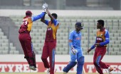 The West Indies bundled out India for just 145 in 45.1 overs in the final of the ICC Under-19 cricket World Cup at the Sher-e-Bangla National Stadium here on Sunday.