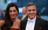 George Clooney with wife Amal