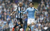 Yoann Gouffran Newcastle United David Silva Manchester City