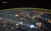 Tim Peake: British astronaut posts incredible time-lapse video of lightning storm over Earth