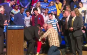 Bernie Sanders supporter faints at New Hampshire rally