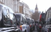London black cab protest: Watch thousands of drivers stage safety protest in Whitehall