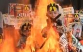 South Korea: Activists burn Kim Jong Un effigy in Seoul over North Korean rocket launch