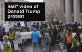 Donald Trump inauguration protest - 360° video