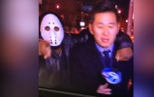 Reporter attacked by man in Friday the 13th mask during live broadcast