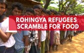 Rohingya refugees in Bangladesh scramble for food