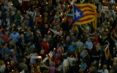 Tens of thousands rally in Barcelona as Spains political crisis deepens