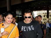 Bollywood actor Salman Khan spotted at Mumbai airport.