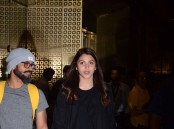 Photos of Bollywood actress Anushka Sharma returns back post The Ring's shoot.