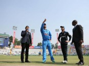 Virat Kohli scored an unbeaten 154 off just 134 deliveries as India beat New Zealand by seven wickets to take a 2-1 lead in the five-match One-Day International (ODI) cricket series here on Sunday.