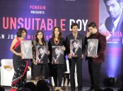 Actor Shah Rukh Khan during the launch of filmmaker Karan Johar's biography An Unsuitable Boy co-authored by Poonam Saxena in Mumbai on Jan 16, 2017.