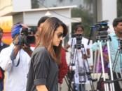 Trisha at Nadigar Sangam Jallikattu protest.